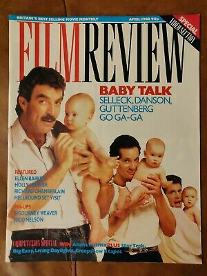 Film Review Magazine April 1988 Tom Selleck In Three Men And A Baby Cover *VGC* • 0.99£