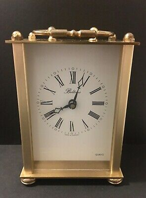 Vintage BELTIME W. German Quartz Movement Brass Carriage Clock Working Condition • 9.50£