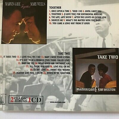 Marvin Gaye, Mary Wells/Kim Weston - Together/Take Two (CD 2001) Soul Perfection • 0.99£