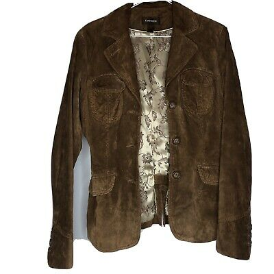 $ CDN33 • Buy Danier Brown Suede Jacket Women's Small Excellent Condition