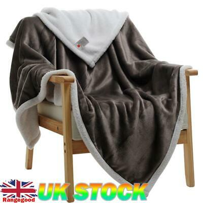Soft Large Wool Plush Coral Velvet Cashmere Warm Throw Blanket For Couch/Chair • 21.17£
