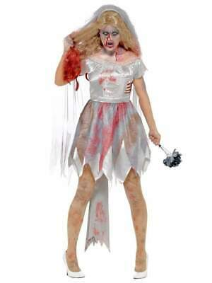 Zombie Bride Adult Women's Costume - Fancy Dress Party Halloween Adult Outfit • 21.99£