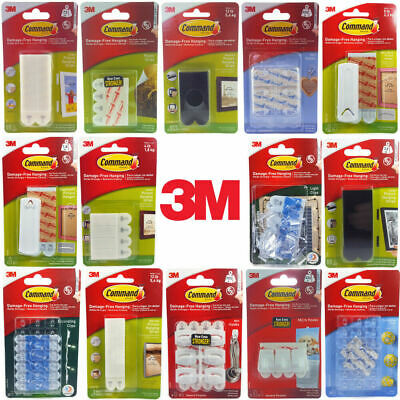 3M Command Hooks And Picture Hanging Strips Damage Free Hanging Picture Strips  • 4.85£