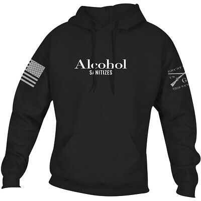 Grunt Style Alcohol Sanitizes Pullover Hoodie - Black • 28.83£