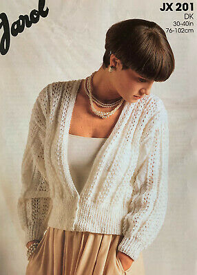 Knitting Pattern Womens Cardigan Simple *No Front Shaping* 30 - 40  DK Jarol 201 • 2.75£