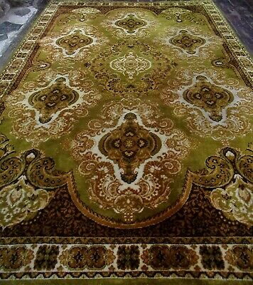 X Large VINTAGE Persiian WOOL Rug 3x2m Oriental Asian Keshan Belgium Made • 45£