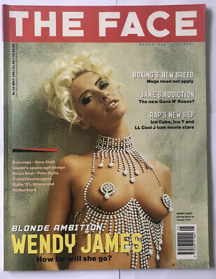 The Face Magazine - May 1991 - Wendy James By Juergen Teller, Ice Cube Ice T Rap • 17£
