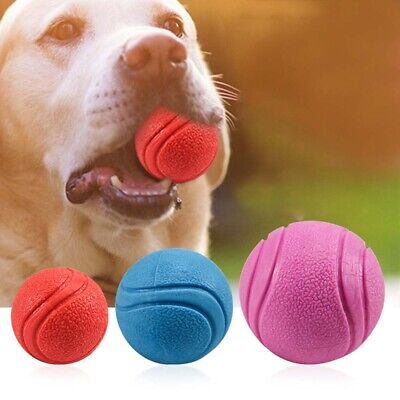 £3.99 • Buy Pet Dog Training Toy Ball Indestructible Solid Rubber Ball Chew Play Bite Toy'