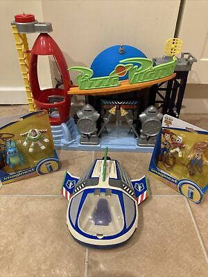 Imaginext Toy Story Bundle New Figures Pizza Planet Playset Buzz Spaceship 2009 • 29.99£