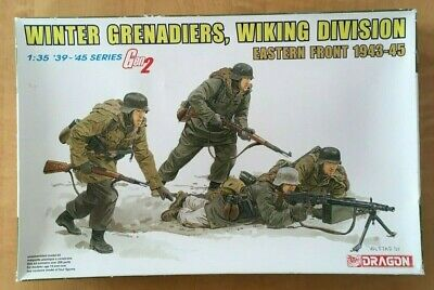 Dragon 6372-03B1/35 Figures Winter Grenadiers Wiking Division. Contents Sealed. • 18£