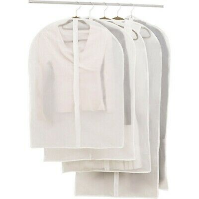Clothes Dust Covers Garment Bags With Zipper Suits Dresses Storage Protector • 3.99£
