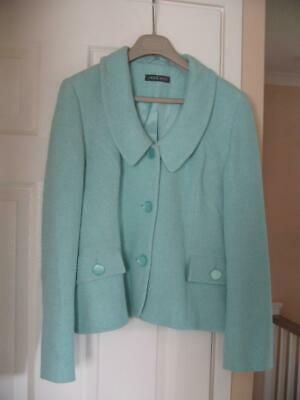 ALEX & CO Turquoise Wool Blend Jacket Size 12 In VGC • 4.99£
