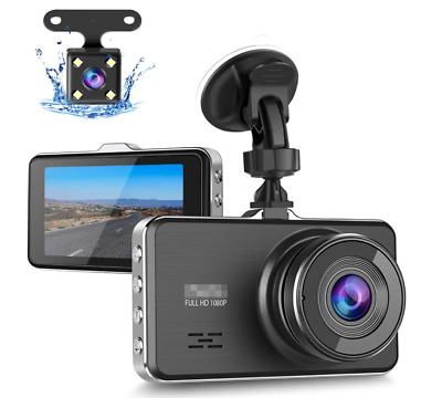 AU41.32 • Buy Dash Cam Front And Rear, Full HD 1080P Dash Camera For Cars, Car Dash Camera Wit