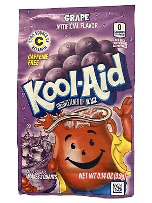 24 Grape Kool-Aid Drink Mix Gluten Free Unsweetened Fresh BB 2022 • 6.45£