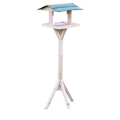 Traditional Garden Wooden Bird Feed Table House Feeding Station • 11.99£