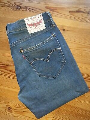 Levis 519 Skinny W34 L32 Vintage Blue Antique Wash Stretch VGC  • 12£