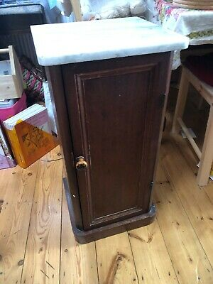 Pot Cabinet / Bathroom Cabinet With Marble Top • 0.99£