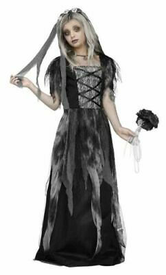 Cemetery Bride Costume - Zombie Fancy Dress Halloween Party Outfit Adult • 22.99£