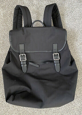 Ladies M&S Autograph Black Rucksack Backpack Bag • 13.99£