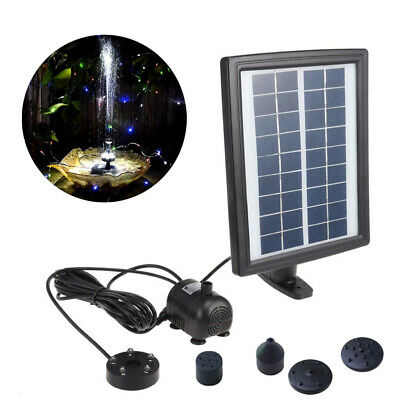 2.8 W LED Solar Powered Floating Pump Water Fountain Pond Pool Garden Decor • 17.99£