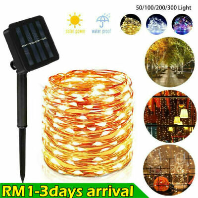 LED Solar String Light Lights Waterproof Copper Wire Fairy Outdoor Garden Party • 5.98£