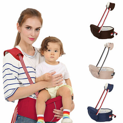 Baby Carrier Lightweight Baby Hip Seat Front Waist Stool Seat Adjustable Strap • 12.99£