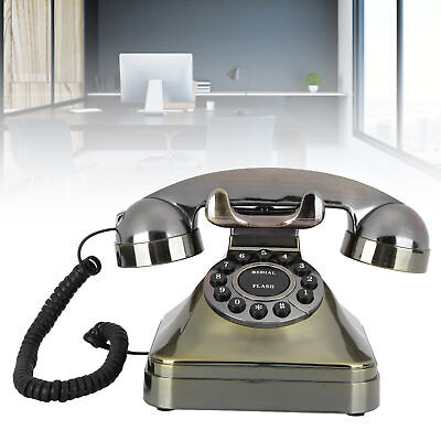 Wired Retro Landline Telephone Corded Desktop HD Phone For Home Office Hotel • 23.80£