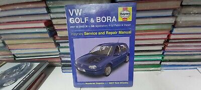 HAYNES SERVICE AND REPAIR MANUAL VW GOLF/BORA 2001-2003 (X-53 Reg) • 11.99£
