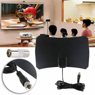 1000Miles Indoor Digital TV Antenna Aerial Freeview HD 1080P Amplified Signal 4K • 6.27£