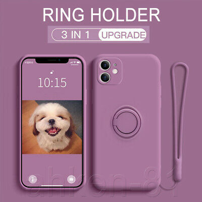 For IPhone 11 12 XR 8 7 Plus XS SE 2 Magnetic Shockproof Ring Holder Case Cover • 4.59£