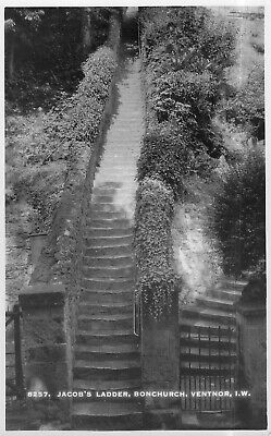 Real Photo Postcard - Jocob's Ladder, Bonchurch, Ventnor - IW, England Unposted. • 8.99£
