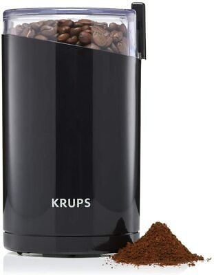 Electric Coffee Bean Mill Grinder Krups Twin Blade Push Button Espresso Safe.... • 25.24£