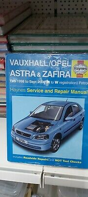 HAYNES SERVICE REPAIR MANUAL VAUXHALL/OPEL ASTRA And ZAFIRA Feb 1998 -Sep 2000 • 11.99£