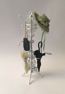 Dolls House White Metal Hat Stand • 3.60£