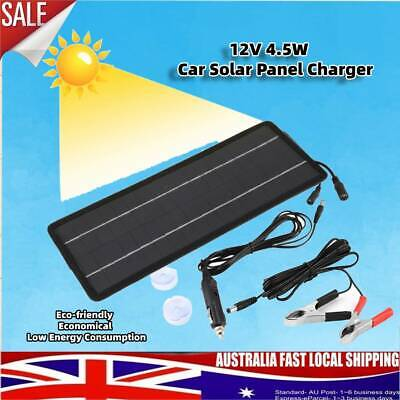 AU18.99 • Buy 4.5W Solar Panel Battery Charger 12V Solar Trickle Charge For RV Boat Caravan