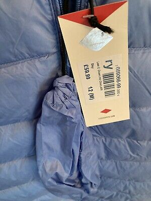 Lee Cooper Blue Gilet Hooded Body Warmer Size 12 Women + Tags And Bag RRP £59.99 • 19.99£