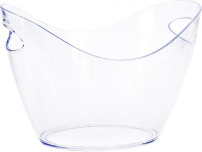 Clear Plastic Drink Cooler Ice Bucket Bowl • 10.99£