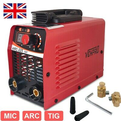 Portable Gasless MIG Welder 130 Auto Flux Wire Feed No Gas Welding Machine 220V • 49.98£