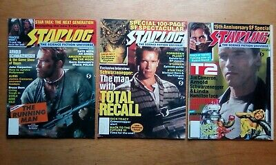 3 Starlog Magazine #125,156,168 -  Each Feature Arnold Schwarzenegger All Fine • 5.99£