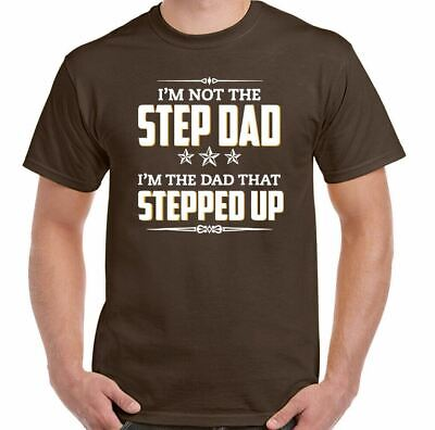 £8.94 • Buy STEP-DAD T-SHIRT Stepdad Dad That Stepped UP Father's Day Tee Top Daddy Birthday