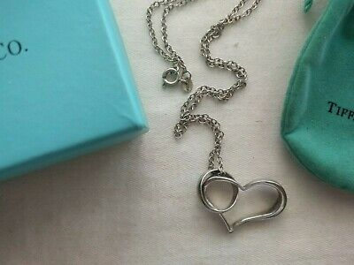 Tiffany & Co. Open Heart & Ring Necklace On 18  Chain  • 25£