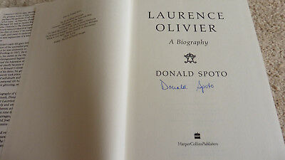 Laurence Olivier:A Biography SIGNED 1991 1st Edition DONALD SPOTO • 10£