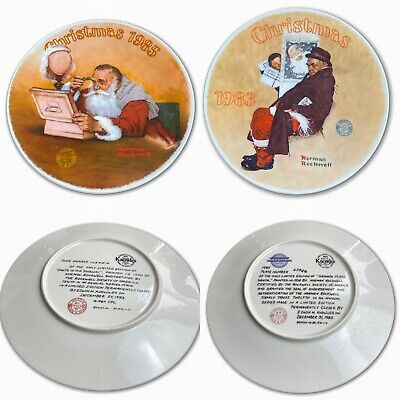 $ CDN34.18 • Buy Norman Rockwell Decorative Christmas Plates Vintage 1985 1983 Limited Edition