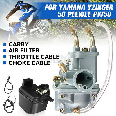 $ CDN51.35 • Buy Carburetor Air Filter Box Throttle Cable Carby For Yamaha PeeWee PW50 PY50