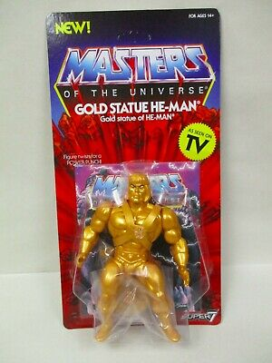 $27.95 • Buy New Motu Vintage Coll Masters Of The Universe Super7 5.5  Gold Statue He-man Moc