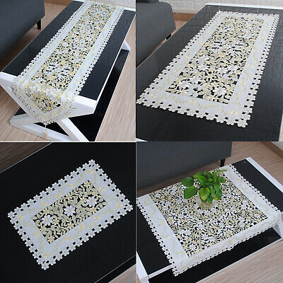 AU17.81 • Buy Embroidered Table Runner Mats Doilies Christmas Wedding Party Dining Home Decor