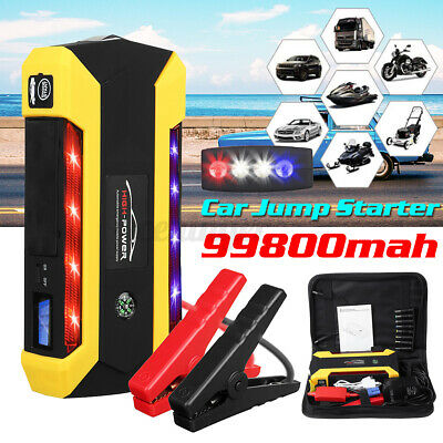 AU66.59 • Buy 99800mAh Vehicle Charger Portable Car Jump Starter Power Bank Battery Engine LCD