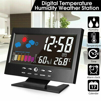 LCD Display Projection Clock Weather Digital Alarm With Temperature Station LED • 8.12£