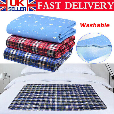 £18.89 • Buy Waterproof Bed Pads Washable PE Incontinence Sheets Seat Protection Mattress UK