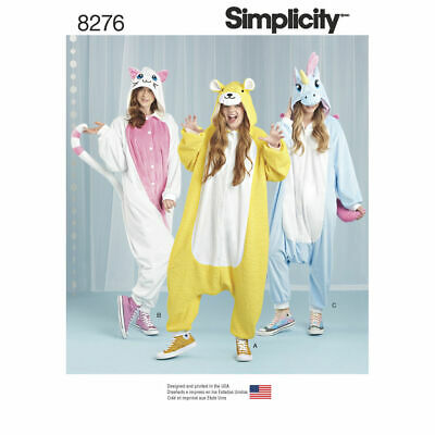 SIMPLICITY Sewing Patterns~8276 Miss Women Ladies Animal All-in-One Jumspuit S-l • 8.85£